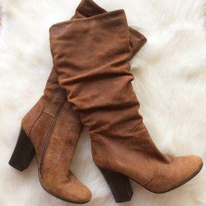 Aldo Suede high heel boots